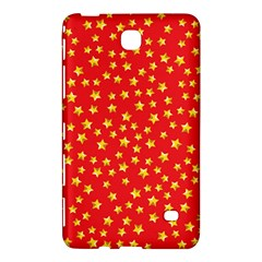 Yellow Stars Red Background Samsung Galaxy Tab 4 (8 ) Hardshell Case  by Onesevenart