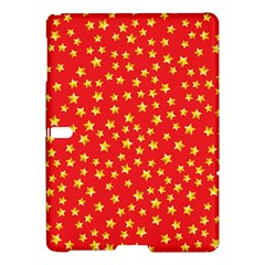 Yellow Stars Red Background Samsung Galaxy Tab S (10 5 ) Hardshell Case  by Onesevenart