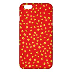 Yellow Stars Red Background Iphone 6 Plus/6s Plus Tpu Case by Onesevenart