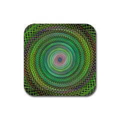 Wire Woven Vector Graphic Rubber Square Coaster (4 Pack)  by Onesevenart