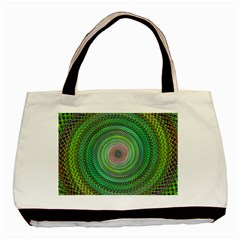 Wire Woven Vector Graphic Basic Tote Bag by Onesevenart