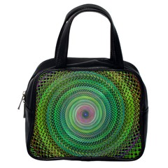 Wire Woven Vector Graphic Classic Handbags (one Side) by Onesevenart