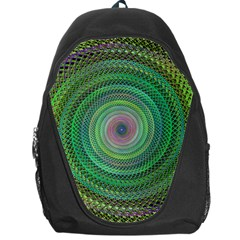 Wire Woven Vector Graphic Backpack Bag by Onesevenart