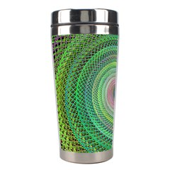 Wire Woven Vector Graphic Stainless Steel Travel Tumblers by Onesevenart