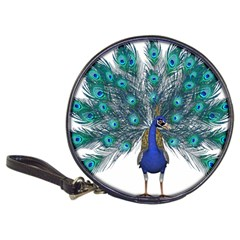 Peacock Bird Peacock Feathers Classic 20 Cd Wallets by Onesevenart
