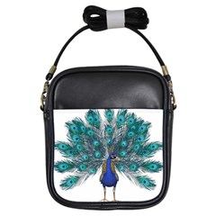 Peacock Bird Peacock Feathers Girls Sling Bags by Onesevenart