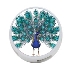 Peacock Bird Peacock Feathers 4 Port Usb Hub (two Sides)  by Onesevenart