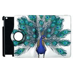 Peacock Bird Peacock Feathers Apple Ipad 2 Flip 360 Case by Onesevenart