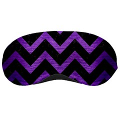 Chevron9 Black Marble & Purple Brushed Metal (r) Sleeping Masks by trendistuff