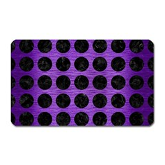 Circles1 Black Marble & Purple Brushed Metal Magnet (rectangular) by trendistuff
