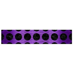 Circles1 Black Marble & Purple Brushed Metal Flano Scarf (small) by trendistuff