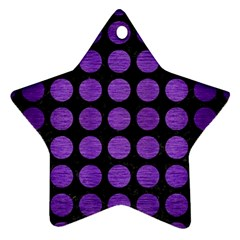 Circles1 Black Marble & Purple Brushed Metal (r) Star Ornament (two Sides) by trendistuff