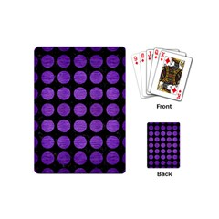 Circles1 Black Marble & Purple Brushed Metal (r) Playing Cards (mini)  by trendistuff