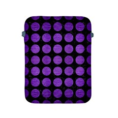 Circles1 Black Marble & Purple Brushed Metal (r) Apple Ipad 2/3/4 Protective Soft Cases by trendistuff