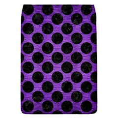 Circles2 Black Marble & Purple Brushed Metal Flap Covers (s)  by trendistuff