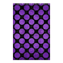 Circles2 Black Marble & Purple Brushed Metal (r) Shower Curtain 48  X 72  (small)  by trendistuff
