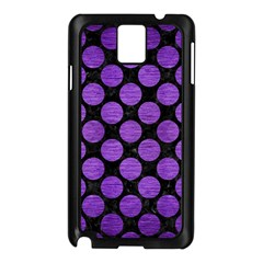 Circles2 Black Marble & Purple Brushed Metal (r) Samsung Galaxy Note 3 N9005 Case (black) by trendistuff