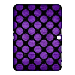Circles2 Black Marble & Purple Brushed Metal (r) Samsung Galaxy Tab 4 (10 1 ) Hardshell Case  by trendistuff