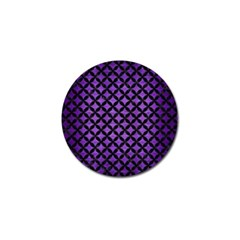 Circles3 Black Marble & Purple Brushed Metal Golf Ball Marker (10 Pack) by trendistuff