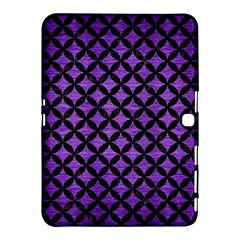 Circles3 Black Marble & Purple Brushed Metal Samsung Galaxy Tab 4 (10 1 ) Hardshell Case  by trendistuff