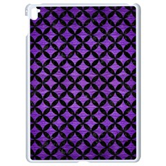 Circles3 Black Marble & Purple Brushed Metal Apple Ipad Pro 9 7   White Seamless Case by trendistuff