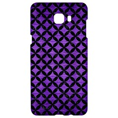 Circles3 Black Marble & Purple Brushed Metal Samsung C9 Pro Hardshell Case  by trendistuff