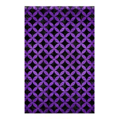 Circles3 Black Marble & Purple Brushed Metal (r) Shower Curtain 48  X 72  (small)  by trendistuff