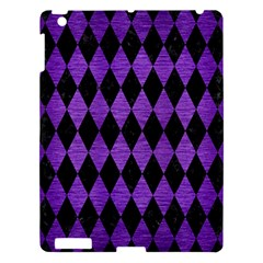 Diamond1 Black Marble & Purple Brushed Metal Apple Ipad 3/4 Hardshell Case by trendistuff