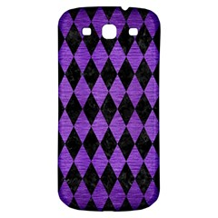 Diamond1 Black Marble & Purple Brushed Metal Samsung Galaxy S3 S Iii Classic Hardshell Back Case by trendistuff