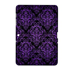 Damask1 Black Marble & Purple Brushed Metal (r) Samsung Galaxy Tab 2 (10 1 ) P5100 Hardshell Case  by trendistuff