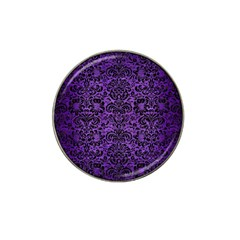 Damask2 Black Marble & Purple Brushed Metal Hat Clip Ball Marker (10 Pack) by trendistuff