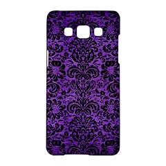Damask2 Black Marble & Purple Brushed Metal Samsung Galaxy A5 Hardshell Case  by trendistuff