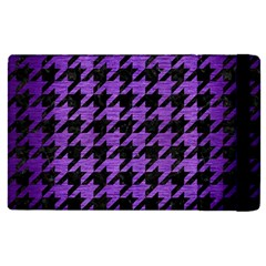 Houndstooth1 Black Marble & Purple Brushed Metal Apple Ipad Pro 12 9   Flip Case by trendistuff