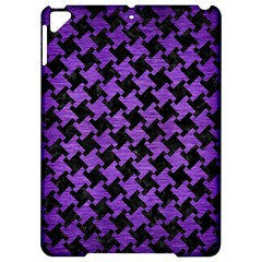 Houndstooth2 Black Marble & Purple Brushed Metal Apple Ipad Pro 9 7   Hardshell Case by trendistuff