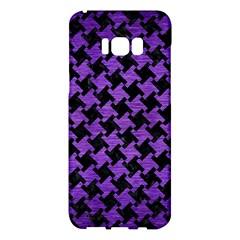 Houndstooth2 Black Marble & Purple Brushed Metal Samsung Galaxy S8 Plus Hardshell Case  by trendistuff