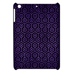 Hexagon1 Black Marble & Purple Brushed Metal (r) Apple Ipad Mini Hardshell Case by trendistuff