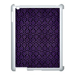 Hexagon1 Black Marble & Purple Brushed Metal (r) Apple Ipad 3/4 Case (white) by trendistuff