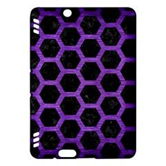 Hexagon2 Black Marble & Purple Brushed Metal (r) Kindle Fire Hdx Hardshell Case by trendistuff