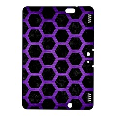 Hexagon2 Black Marble & Purple Brushed Metal (r) Kindle Fire Hdx 8 9  Hardshell Case by trendistuff