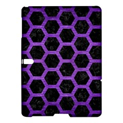Hexagon2 Black Marble & Purple Brushed Metal (r) Samsung Galaxy Tab S (10 5 ) Hardshell Case  by trendistuff