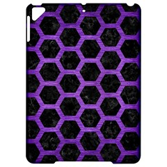 Hexagon2 Black Marble & Purple Brushed Metal (r) Apple Ipad Pro 9 7   Hardshell Case by trendistuff