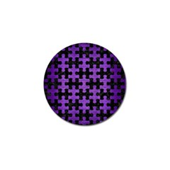 Puzzle1 Black Marble & Purple Brushed Metal Golf Ball Marker by trendistuff