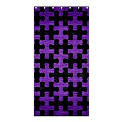 Puzzle1 Black Marble & Purple Brushed Metal Shower Curtain 36  X 72  (stall)  by trendistuff