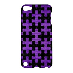 Puzzle1 Black Marble & Purple Brushed Metal Apple Ipod Touch 5 Hardshell Case by trendistuff