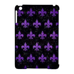 Royal1 Black Marble & Purple Brushed Metal Apple Ipad Mini Hardshell Case (compatible With Smart Cover) by trendistuff