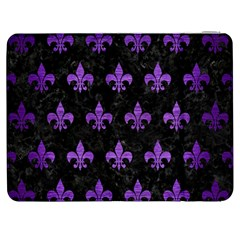Royal1 Black Marble & Purple Brushed Metal Samsung Galaxy Tab 7  P1000 Flip Case by trendistuff