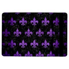 Royal1 Black Marble & Purple Brushed Metal Ipad Air 2 Flip by trendistuff
