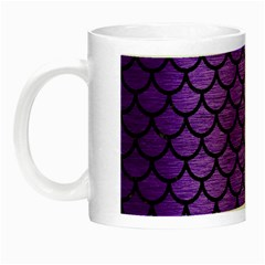 Scales1 Black Marble & Purple Brushed Metal Night Luminous Mugs by trendistuff