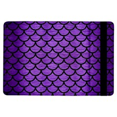 Scales1 Black Marble & Purple Brushed Metal Ipad Air Flip by trendistuff