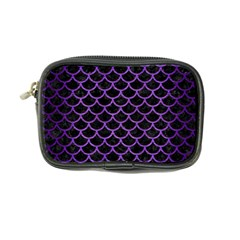 Scales1 Black Marble & Purple Brushed Metal (r) Coin Purse by trendistuff